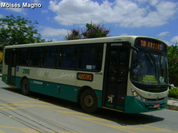 Caio Apache Vip II, Mercedes-benz OF-1418, Justinópolis Transportes 134 , GXH-9872