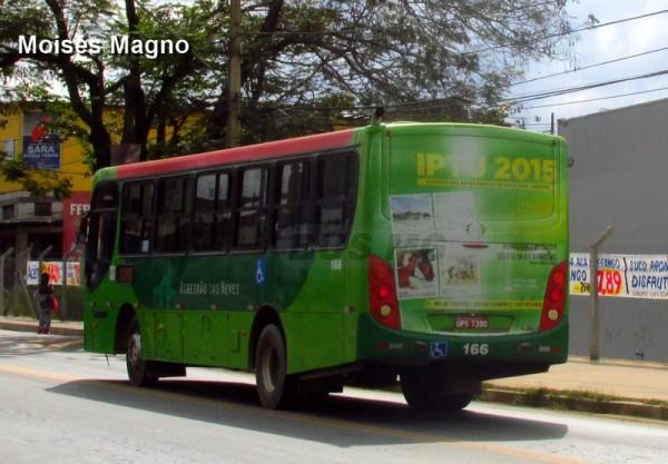 Caio Apache Vip II, Mercedes-Benz OF-1519 BT5, Justinópolis Transportes 166, OPS-7390