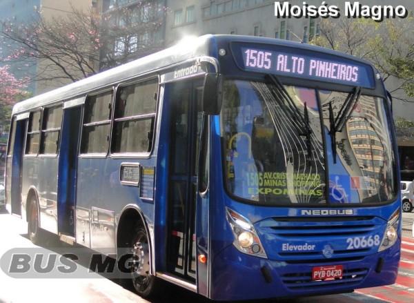 Neobus Mega Plus, Mercedes-Benz OF-1721 BT5, Viação Progresso 20668, PYB-0420