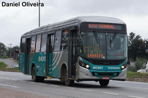 Caio Millennium BRT, Mercedes-Benz OF-1724L BT5, Saritur 90301, PUA2365