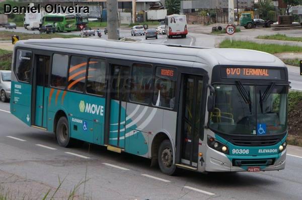 Caio Millennium BRT, Mercedes-Benz OF-1724L BT5, Saritur 90306, PUA5774